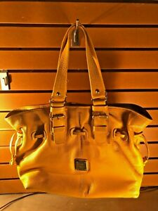Dooney & Bourke Yellow Pebbled Leather Shoulder Bag