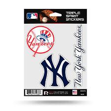 New York Yankees Triple Sticker Multi Decal Spirit Sheet Auto Home Baseball