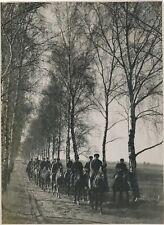Cavaliers militaire URSS Silésie argentique photo vintage vers 1945 guerre