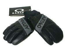 Oakley Mens Black Leather Mitten Glove Size M