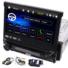 SINGLE 1 DIN GPS NAVI CAR DVD/CD PLAYER 7 MONITOR USB BLUETOOTH WIRELESS CAMERA