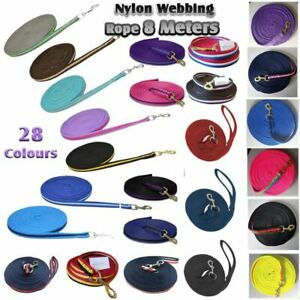Long Lunge Line Soft Padded 8 Metres Lunging Rein Pony Horse Training 22 Colours