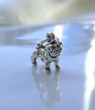 PUG DOG 3D SMALL CHARM 925 STERLING SILVER