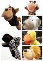 1X Plush Velour Animal Hand Puppets Child Kids Educational TOY Preschool EFU