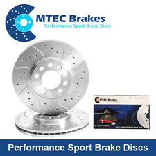 P100 Pick-Up 1.8TD 2.0 05 88-06 94 Drilled & Grooved Front Brake Discs & Pads