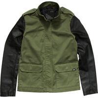 3400a51e8f Vans Off The Wall Womens Juniors Hawthorne Jacket NWT XS Green Black  Military