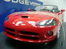 WOW EXTREMELY RARE Dodge Viper SRT/10 2003 Roadster Red 1:18 Auto Art/Mach1/RT