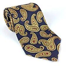 "Banana Republic Men's Tie Silk Paisley Blue Green Gold Red 57 1/2"" L Made Italy"