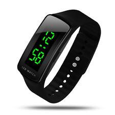 Fashion Mens Women Sport LED Waterproof Rubber Bracelet Digital Wrist Watch