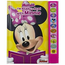Minnie Mouse Book I'm Ready To Read Sounds Girl Toy Gift Kids Toddler Gift New