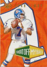 John Elway 1996 Leaf Shirt Off My Back Insert Card 1925/2500 Denver Broncos