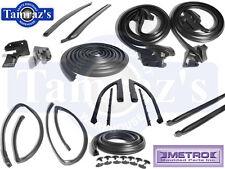 68 GTO LeMans Tempest Weatherstrip Seal Kit 14 Pieces 2 Door Hardtop New