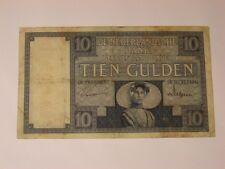 TIEN GULDEN 10 GULDEN FEB 1929 NEDERLANDSCHE BANK Banknote Niederlande