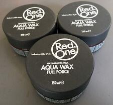 RED ONE GRIGIO massimo controllo Aqua Cera per capelli x 3 -