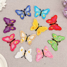 10PCS Embroidered Fabric Applique Butterfly Sew On Patch Embroidery Badge DIY