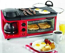 Nostalgia Electrics 3 In 1 Cooking System Coffee Maker Griddle Toaster Oven Food