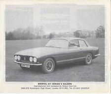 Bristol 411 Series V & 412 Convertible 1975-76 Original UK Sales Brochure