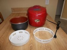 AROMA SIMPLY MING RICE COOKER ARC-6506R TURBO CONVECTION OVEN SOUP OATMEAL RED
