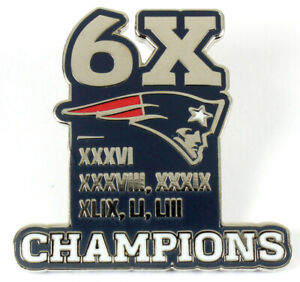 New England Patriots 6-Time Super Bowl Champions Pin - Limited 1,000