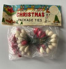 Vintage Package Of Christmas Ties Made In Japan