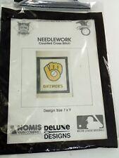 Nomis Yarn Milwaukee Brewers Counted Cross Stitch Logo Kit