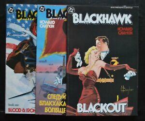 BLACKHAWK # 1-3 : VERY FINE/NEAR MINT : 1987 : DC COMICS.