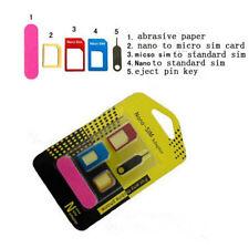 to Adapter Adaptor 5 IN 1 Converter Set Standard Micro SIM Card Nano for iPhone