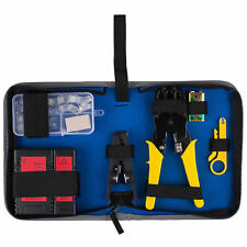 Network Ethernet LAN Install Tool Kit with Cable Tester and Case