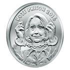 2017 Silver Shield Vote Prison 1 oz Silver Round | Hillary Clinton 2016 Election