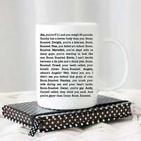 The Office Boom Roasted Mug Funny Mug Dunder Mifflin funny mug Dwight Jim Pam
