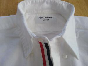 NWOT Thom Browne White Oxford ButtonDown Grosgrain TB1 TB2 TB3 TB4 TB5 MSRP $425