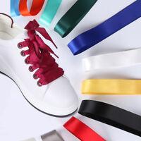 2CM Wide Fashion Various Colors Flat Smooth Shoelaces Ribbon Satin Shoe Laces