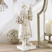 "RAZ Imports 15"" Shell Santa Ivory Distressed Resin Christmas Seashell NEW"