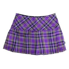 Tripp NYC 80s 90s Gothic Punk Purple Tartan Plaid School Girl Mini Skirt Size L