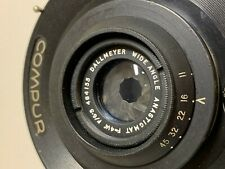 Dallmeyer coated wide angle 41/4 inch F6.5 lens with compur shutter