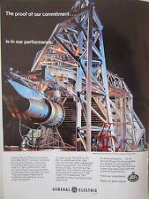 1/1973 PUB GENERAL ELECTRIC CF6 ENGINE ON TEST AIRLINER MOTEUR AVION ORIGINAL AD
