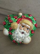 "Jolly Holly Claus Santa 3.25"" Christmas Ornament 99-283-0 Radko 1999 Perfection!"