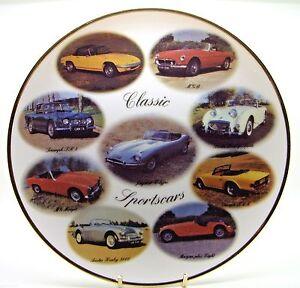 ~-~ Classic Sports Cars ~ Porcelain Plate