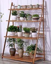 buy bamboo garden plant stands ebay. Black Bedroom Furniture Sets. Home Design Ideas