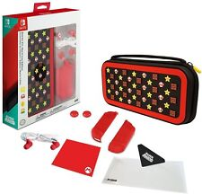 Super Mario Edition Nintendo Switch Accessory Kit Bundle Case Protector + More