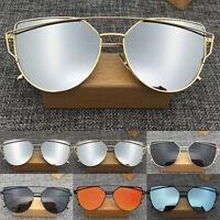 Sunglasses Women's Metal Frame Mirrored Designer Outdoor Glasses Eyewear CHI