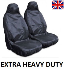AUDI EXTRA HEAVY DUTY CAR SEAT COVERS PROTECTORS X2 / WATERPROOF