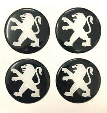 Peugeot  Wheel Cap Stickers 4x60mm Fits on Alloy Centre Hub