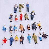 24pcs Figure Miniature Simulation Homme Maquette Peinte échelle HO (1 à 87)