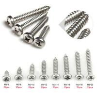 200x Stainless Steel Self Drilling Sheet Metal Screws TEK Tap Pan Head All Sizes