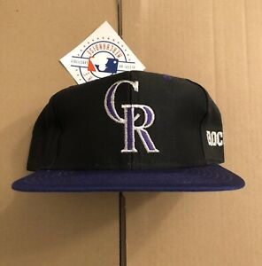 Vtg NWT Colorado Rockies Snapback Hat Cap 90s MLB Baseball Todd Helton Era Rare