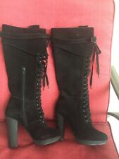 Charles David Black Suede Boots 8