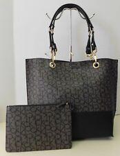 "Calvin Klein Reversible Khaki & Black Monogram Shoulder Bag Handbag Purse ""NWT"""