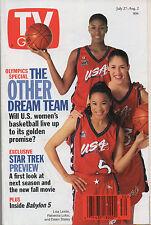 1996 TV Guide Olympics Special Lisa Leslie Rebecca Lobo Dawn Staley NO LABEL