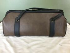 Vintage Doctors Brown Pebble Medical Bag Black Trim Made in USA